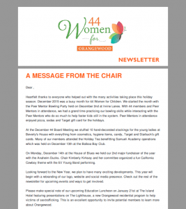 44 Women for Orangewood Newsletter