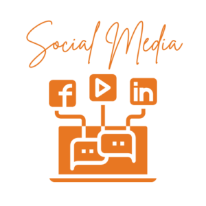social media with text